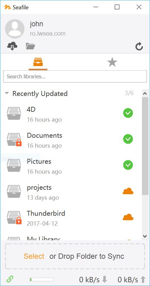 one folder stopped syncing how to resume seafile client